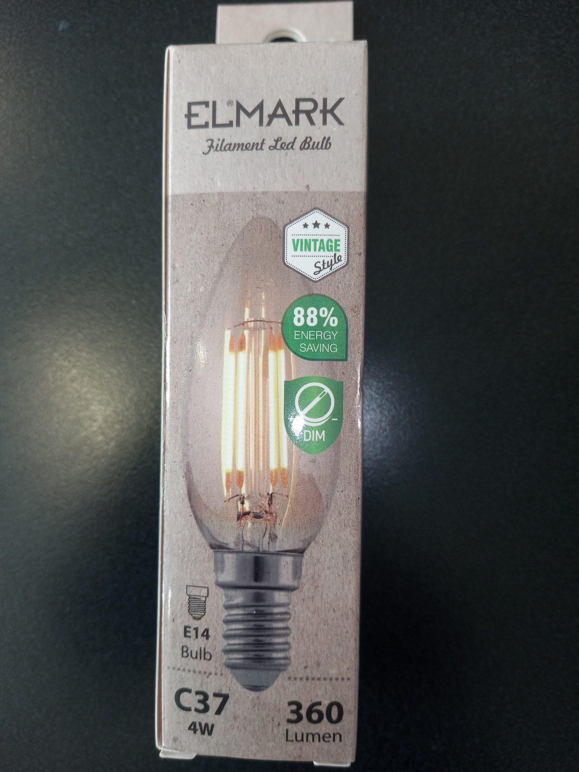 LED ŽARNICA DIMABILNA VINTAGE C37-4W E14 2800-3200K